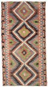 Kelim Halvt Antikke Tyrkiske Teppe 170X321 Ekte Orientalsk Håndvevd Mørk Grå/Mørk Rød (Ull, Tyrkia)