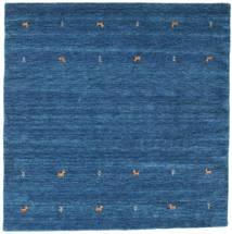 Gabbeh Loom Two Lines - Blå Teppe 200X200 Moderne Kvadratisk Mørk Blå/Blå (Ull, India)