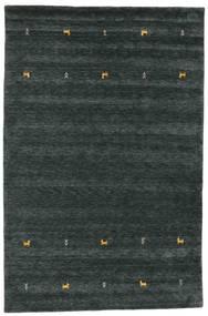 Gabbeh Loom Two Lines - Mørk Grå/Grønn Teppe 190X290 Moderne Svart (Ull, India)