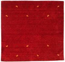 Gabbeh Loom Two Lines - Rød Teppe 200X200 Moderne Kvadratisk Rød/Mørk Rød (Ull, India)