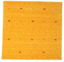 Gabbeh Loom Two Lines - Gul Teppe 200X200 Moderne Kvadratisk Orange/Gul (Ull, India)