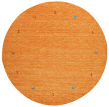 Gabbeh Loom Two Lines - Oransje Teppe Ø 200 Moderne Rundt Orange (Ull, India)