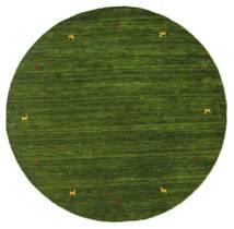 Gabbeh Loom Two Lines - Grønn Teppe Ø 200 Moderne Rundt Mørk Grønn (Ull, India)