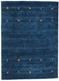 Gabbeh Loom Two Lines - Mørk Blå Teppe 140X200 Moderne Mørk Blå (Ull, India)