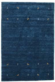 Gabbeh Loom Two Lines - Mørk Blå Teppe 160X230 Moderne Mørk Blå (Ull, India)