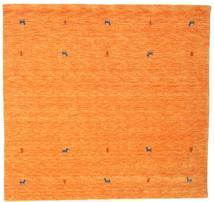 Gabbeh Loom Two Lines - Oransje Teppe 200X200 Moderne Kvadratisk Orange (Ull, India)