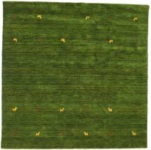 Gabbeh Loom Two Lines - Grønn Teppe 200X200 Moderne Kvadratisk Mørk Grønn (Ull, India)