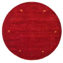 Gabbeh Loom Two Lines - Rød Teppe Ø 150 Moderne Rundt Rød/Mørk Rød (Ull, India)