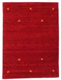 Gabbeh Loom Two Lines - Rød Teppe 140X200 Moderne Rød/Mørk Rød (Ull, India)