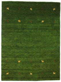 Gabbeh Loom Two Lines - Grønn Teppe 140X200 Moderne Mørk Grønn (Ull, India)