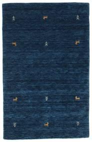 Gabbeh Loom Two Lines - Mørk Blå Teppe 100X160 Moderne Mørk Blå (Ull, India)