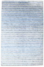 Bamboo Silke Handloom Teppe 200X304 Ekte Moderne Håndknyttet Lys Blå/Beige ( India)