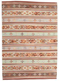 Kelim Anatolian Teppe 160X230 Ekte Moderne Håndvevd Mørk Rød/Lys Grå (Ull, India)