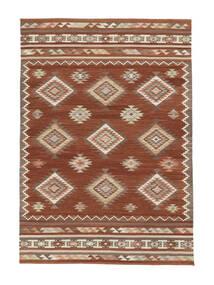 Kelim Malatya Teppe 160X230 Ekte Moderne Håndvevd Rød/Lysbrun (Ull, India)