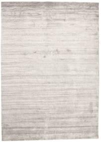 Bamboo Silke Loom - Warm Grå Teppe 160X230 Moderne Lys Grå/Hvit/Creme ( India)