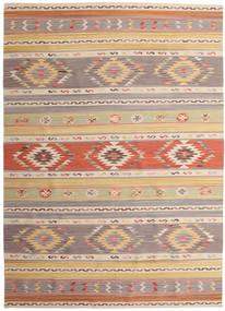 Kelim Nimrud Teppe 240X340 Ekte Moderne Håndvevd Lys Grå/Mørk Beige (Ull, India)