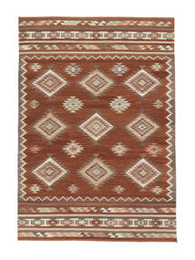 Kelim Malatya Teppe 190X290 Ekte Moderne Håndvevd Mørk Rød/Rød (Ull, India)