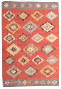 Kelim Denizli Teppe 190X290 Ekte Moderne Håndvevd Rød/Rust (Ull, India)