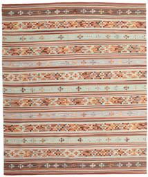 Kelim Anatolian Teppe 240X290 Ekte Moderne Håndvevd Mørk Rød/Beige (Ull, India)