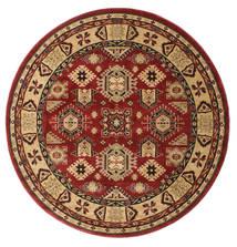 Shirvan Kazak Teppe Ø 200 Orientalsk Rundt Mørk Rød/Lysbrun ( Tyrkia)
