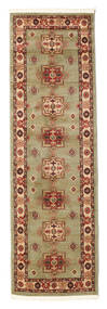 Marivan Kazak Teppe 80X250 Orientalsk Teppeløpere Lysgrønn/Brun ( Tyrkia)