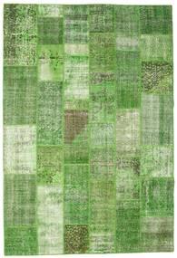 Patchwork Teppe 200X297 Ekte Moderne Håndknyttet Lysgrønn/Pastell Grønn (Ull, Tyrkia)