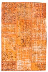 Patchwork Teppe 121X184 Ekte Moderne Håndknyttet Orange (Ull, Tyrkia)