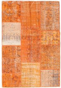 Patchwork Teppe 121X180 Ekte Moderne Håndknyttet Orange/Lysbrun (Ull, Tyrkia)