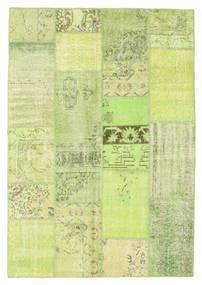 Patchwork Teppe 161X233 Ekte Moderne Håndknyttet Lysgrønn (Ull, Tyrkia)