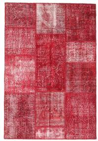Patchwork Teppe 123X181 Ekte Moderne Håndknyttet Rød/Rosa (Ull, Tyrkia)
