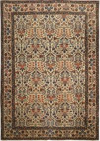 Tabriz Patina Teppe 238X338 Ekte Orientalsk Håndknyttet Brun/Mørk Grå (Ull, Persia/Iran)