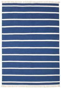 Dorri Stripe - Mørk Blå Teppe 160X230 Ekte Moderne Håndvevd Mørk Blå/Blå (Ull, India)