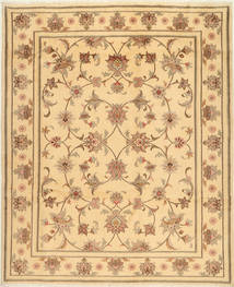 Yazd Teppe 200X245 Ekte Orientalsk Håndknyttet Lysbrun/Mørk Beige (Ull, Persia/Iran)