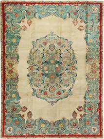 Tabriz Patina Teppe 300X400 Ekte Orientalsk Håndknyttet Mørk Beige/Pastell Grønn Stort (Ull, Persia/Iran)