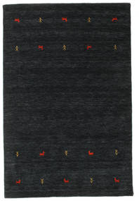 Gabbeh Loom Two Lines - Svart/Grå Teppe 140X200 Moderne Svart (Ull, India)
