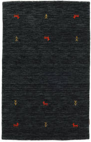 Gabbeh Loom Two Lines - Svart/Grå Teppe 100X160 Moderne Svart (Ull, India)