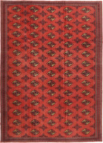 Turkaman Patina Teppe 240X337 Ekte Orientalsk Håndknyttet Mørk Rød/Rust (Ull, Persia/Iran)