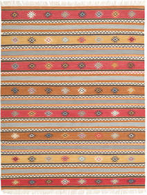 Kelim - Nezzim - Nezzim Teppe 170X240 Ekte Moderne Håndvevd Lysbrun/Lys Grå ( India)
