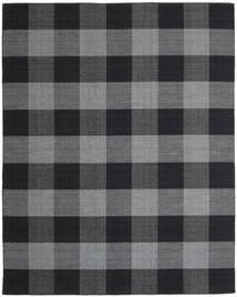 Check Kilim Teppe 240X300 Ekte Moderne Håndvevd Mørk Grå/Mørk Blå (Ull, India)