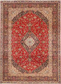 Keshan Teppe 252X345 Ekte Orientalsk Håndknyttet Rust/Mørk Rød/Mørk Brun Stort (Ull, Persia/Iran)