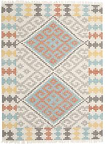 Summer Kelim Teppe 210X290 Ekte Moderne Håndvevd Lys Grå/Beige (Ull, India)