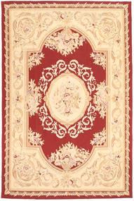 Aubouson Teppe 184X281 Ekte Orientalsk Håndknyttet Mørk Beige/Beige/Mørk Rød (Ull, Kina)