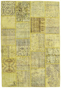 Patchwork Teppe 159X232 Ekte Moderne Håndknyttet Gul/Lysgrønn/Olivengrønn (Ull, Tyrkia)