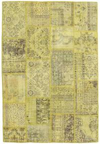 Patchwork Teppe 158X233 Ekte Moderne Håndknyttet Gul/Lysgrønn/Olivengrønn (Ull, Tyrkia)