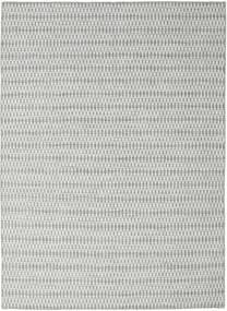 Kelim Long Stitch - Grå Teppe 210X290 Ekte Moderne Håndvevd Lys Grå/Turkis Blå (Ull, India)