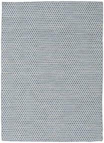 Kelim Honey Comb - Blå Teppe 140X200 Ekte Moderne Håndvevd Lys Blå/Hvit/Creme/Blå (Ull, India)
