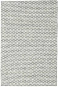 Kelim Honey Comb - Grå Teppe 120X180 Ekte Moderne Håndvevd Lys Grå/Beige (Ull, India)