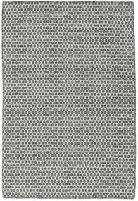 Kelim Honey Comb - Svart/Grå Teppe 120X180 Ekte Moderne Håndvevd Lys Grå/Mørk Grå (Ull, India)