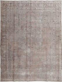 Colored Vintage Teppe 296X393 Ekte Moderne Håndknyttet Lys Grå/Mørk Grå Stort (Ull, Pakistan)