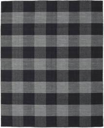 Check Kilim Teppe 190X240 Ekte Moderne Håndvevd Mørk Grå/Svart (Ull, India)